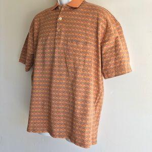 Ermenegildo Zegna Men's XL Polo 100% Cotton Orange